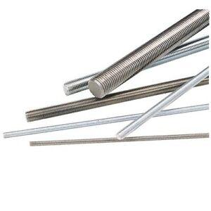 Tige filetée acier zinguée blanc 8.8 - ø14 - 1m - 1 pièce STAFA