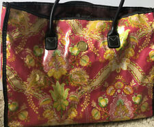 Anna Griffin floral deign Laminated Tote bag  16.25 X 12.25 X 6 Inches