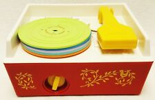 Vintage Fisher Price Record Player Music Box Complete with 5 Discs 10 Songs