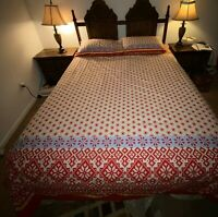 Ikea Brand New Ellen Snö Quilt Cover Set & Lodge Theme White Red Full/Queen