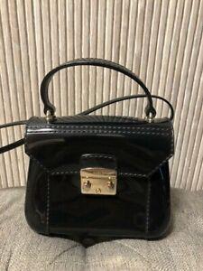 Authentic FURLA Candy Bon Bon Mini Black Crossbody Bag