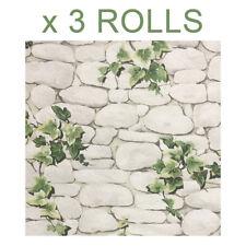 Classic Wallpaper Ivy Stone Wall Erismann 7519-2 Paper 10m Castor