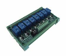 8 Channel 12VDC Relay Board PLC DIN Rail Mounting NPN