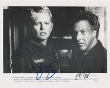DUSTIN HOFFMAN & SHARON STONE Signed 10x8 Photo SPHERE COA