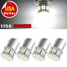 4x White 1156 BA15S 50SMD 1206 LED Car Tail Brake Turn Signal Backup Light Bulbs