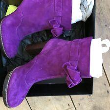 Paul Smith caliente rosa/púrpura gamuza tobillo botas talla 6