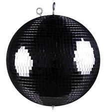 Spiegelkugel mit Sicherheitsöse 30cm schwarz // Discokugel - Mirrorball 30cm sch