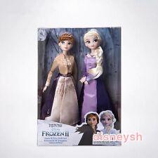 """Shanghai Disney 2PCS Playset Frozen 2 Princess Elsa&Anna 12"""" Doll Figures toy"""