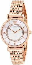 New In Box Emporio Armani AR1909 Mother of Pearl Dial Rose Gold Women's Watch