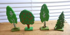 Vintage Germany Trees, Set of Four