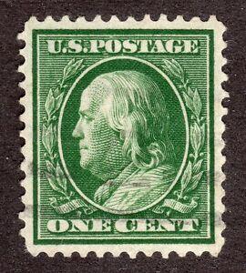 US # 331 (1908) 1c - Grade: Superb - Nicely Centered 'Benjamin Franklin'