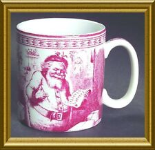 BRAND NEW SET OF FOUR (4) WILLIAMS SONOMA SPODE ST. NICK MUGS~SO CHARMING!!