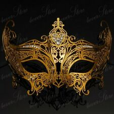 Gossip Girl Inspired Metal Venetian Masquerade Mask for Women M7142 [Gold]