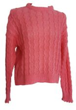 Suéter Mujer H&M Hm Woman Jersey Rosa Grueso Cable Tejido Xs S M £19.99