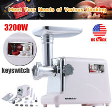 3200W Powerful Commercial Electric Meat Grinder Sausage Maker Mincer Stuffer USA