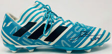 Leo Lionel Messi Signed Adidas Soccer Barcelona Blue Cleat Beckett BAS COA