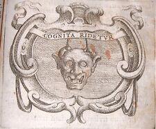 IGNATIUS INSIGNUM CARLO BOVIO 1655 ROMA EMBLEMATA GESUITI IGNAZIO DI LOYOLA