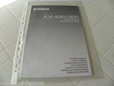 Yamaha AX-496 / 396 Owner's Manual Operating Instructions New