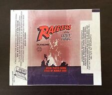 1981 Scanlens Raiders of the Lost Ark - Wax Pack Wrapper