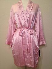 Jones New York Intimates Embroidered Summer Classics Satin Wrap Robe 5J621W L/XL