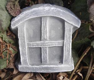 """Plastic set of  2  Fairy ( same) windows molds plaster concrete mould 3"""" x 3"""""""