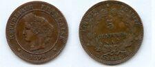**gertbrolen 5 Centimes bronze Type Cérès  1896  Paris Torche RARE