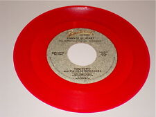 TOM PETTY & THE HEARTBREAKERS ORIGINAL RED COLORED VINYL 45 CHANGE OF HEART 1983