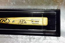 Premium Wall Mount Baseball Bat Display Case,Black frame with black background