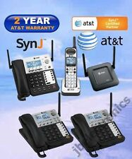 AT&T SynJ® SB67138 DECT 6.0 4-LINE PHONE - 1 CORDLESS + 2 DESKSETS + 1 REPEATER