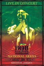 Bob Marley Concert Poster! Kingston Jamaica 1975 Nesta Wailers New Never Hung