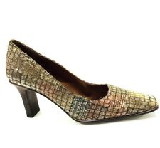 Proxy Multi-colored Textured Unique Heels Pumps Made In Spain Women's Size 5.5 M