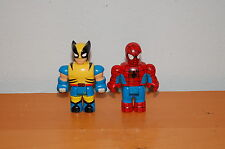 Lot of 2 Mega Bloks SUPER HEROES Spiderman X-Men Wolverine