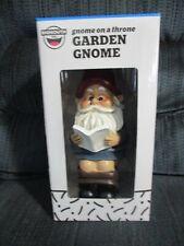 """Big Mouth Inc. Gnome On A Throne Garden Gnome 9"""""""