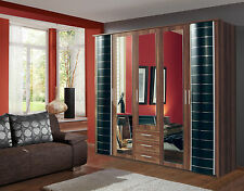 Wardrobe German Made Walnut Black WIMEX 5 Doors & 3 Drawers 7 Star Furniture Black/walnut Delivery