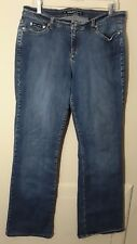 DKNY Womens Tall Jeans Size 14 Long 14L Blue Denim Pants Bootcut Long Inseam