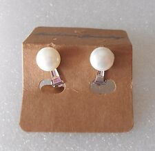 Natural Pearl Clip-on Earrings - Ideal for a Bridesmaid