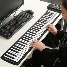 Portable Roll-Up 61 MIDI Soft Keys Flexible Electronic Piano Music Keyboard