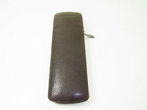 Vintage German MONTBLANC Brown Leather Pouch / Case for 2 Fountain Pen