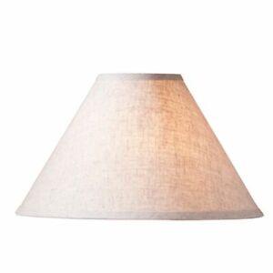 """Farmhouse new 17"""" Ivory Linen Lamp Shade"""