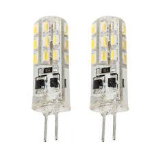 2 G4 Lampada Faretto 24 LED SMD 3014 Bianco Caldo DC 12V 1.5W 3600K L8H2