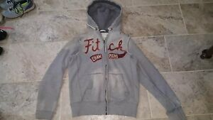 ABERCROMBIE AND FITCH DISTRESSED THERMAL MUSCLE HOODIE MEN'S SIZE MEDIUM HEAVY!!