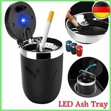 Auto-Aschenbecher mit LED Windaschenbecher mit Deckel Gluttöter Licht zum Reisen