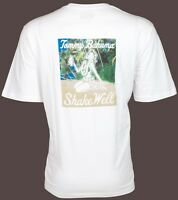 TOMMY BAHAMA Mens T-Shirt SHAKE WELL Hula Girl Drink WHITE Relax Camp XL-3XL $45