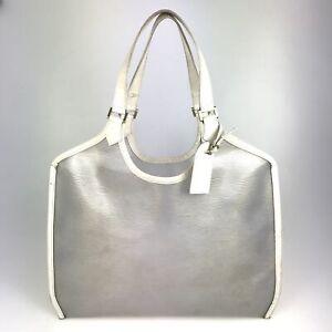 100% Authentic Louis Vuitton Epi Plage Bahia Coconut White M92153 Used {09-238C}
