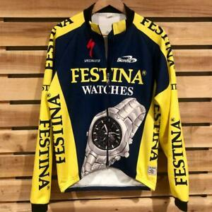 Mens Specialized Festina Watches Fleece Lined Full Zip L/S Cycling Jersey M/L