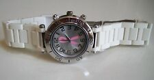 Women's Breast Cancer Awareness Pink Ribbon Off White Fashion Watch