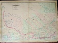 EXTREMELY RARE MAP OF ASHER & ADAMS PART OF QUEBEC, CANADA, 1872-1874, GENUINE