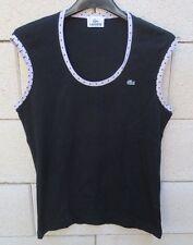 Tee-Shirt top LACOSTE Devanlay femme noir 44 débardeur