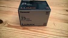 Panasonic Lumix G 25mm F1.7 ASPH Micro Four Thirds Lens