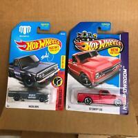 Hot Wheels Lot 2X Mazda Repu Daredevils #1/10 / '67 Chevy C10 HW Showroom X14